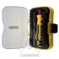 Набор головок и бит с рукояткой 47шт. LEMANSO LTL10049