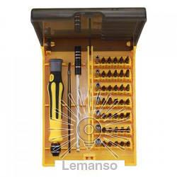 Набор головок и бит с рукояткой 45шт. LEMANSO LTL10039