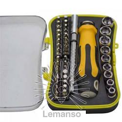 Набор отверток с битами с рукояткой 43шт. LEMANSO LTL10018