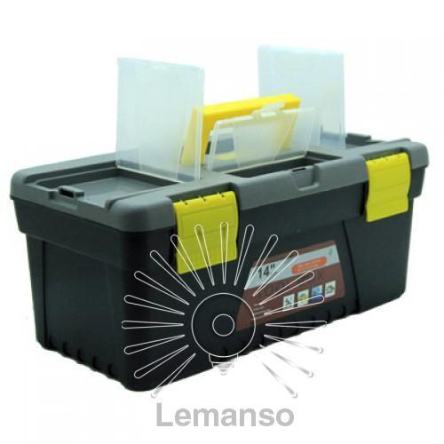 """Ящик для инструментов 14"""" 356*180*150мм LEMANSO LTL13015 пластик"""
