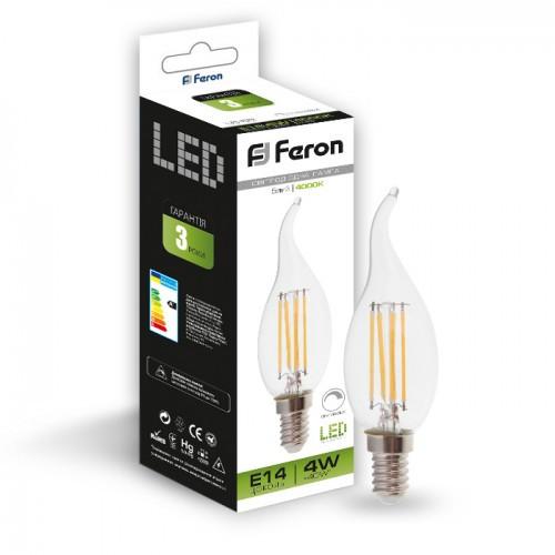 Светодиодная лампа Feron LB-69 4W E14 4000K диммируемая