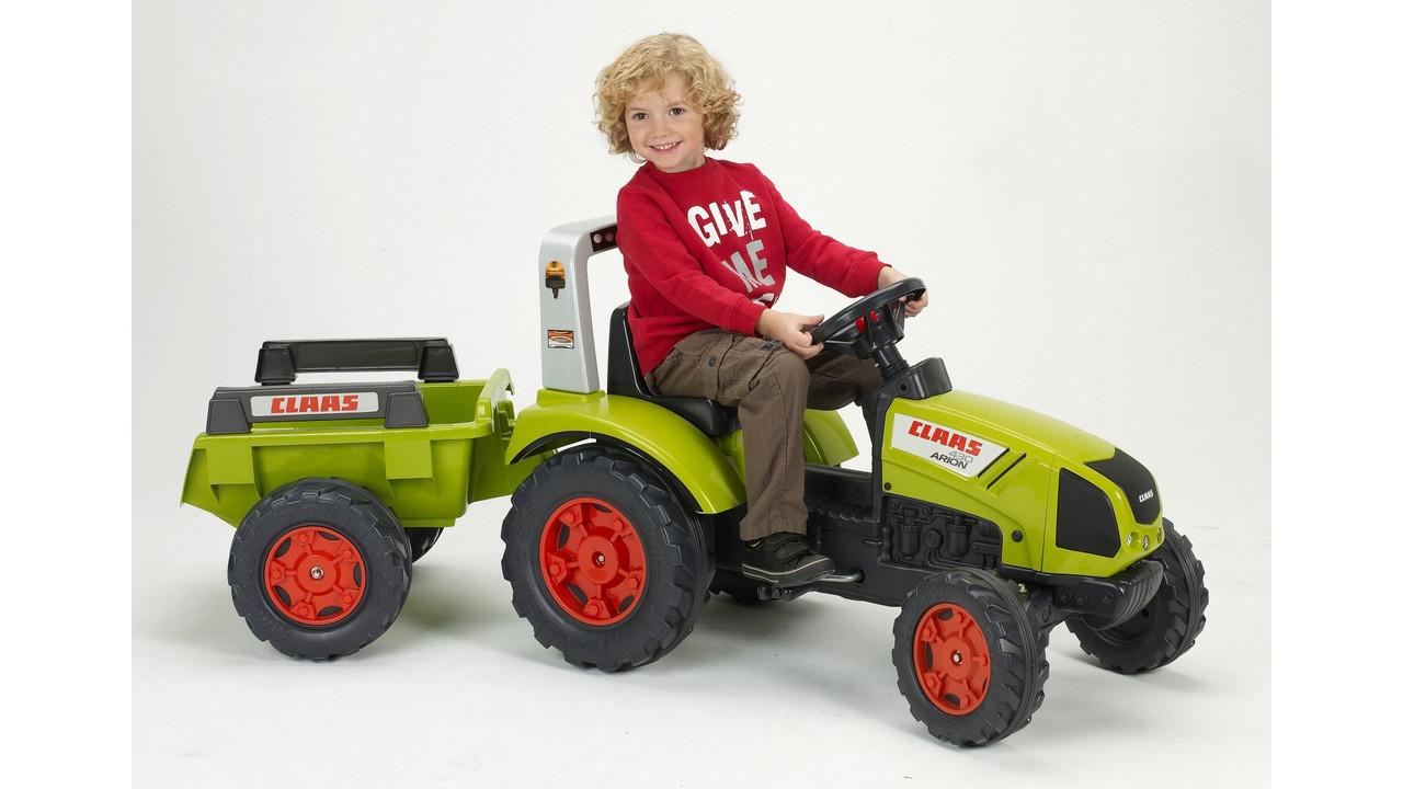 Трактор Педальный с Прицепом Claas Arion 430 Falk 1040B