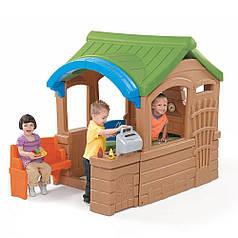 Детский игровой домик Step2 8001, домик с грилем