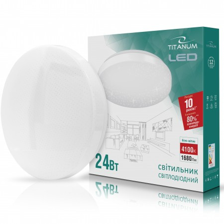 LED светильник настенно-потолочный TITANUM 24W 4100K 220V Звездное небо  (TLCL-24S)