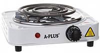 Плита электрическая одноконфорочная, спираль 1000 Вт A-Plus 2101