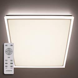 Потолочный светодиодный светильник с пультом ДУ LUMINARIA BALANCE DOUBLE 95W S500 WHITE/SILVER 220V IP44