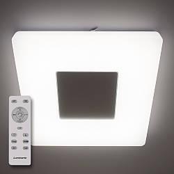 Потолочный светодиодный светильник с пультом ДУ LUMINARIA QUADRON 50W S470 WHITE 220V IP44