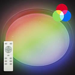 Потолочный светодиодный светильник с пультом LUMINARIA SATURN 60W RGB R535 SHINY 220V + Видео обзор