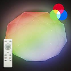 Потолочный светодиодный светильник с пультом ДУ LUMINARIA ALMAZ 60W RGB R500 SHINY + Відео огляд