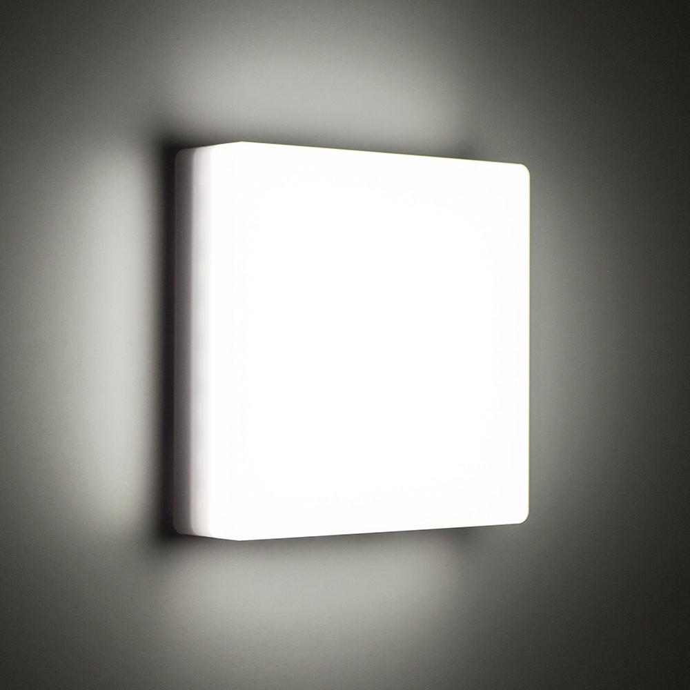 Настінно-стельовий світильник світлодіодний LUMINARIA NLS 10W 220V IP44 5000ККвадратный настінно-стельовий