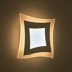 Настенный светодиодный светильник, бра LUMINARIA GEOMETRIA QUARTO 18W Q210 WHITE 220V IP44