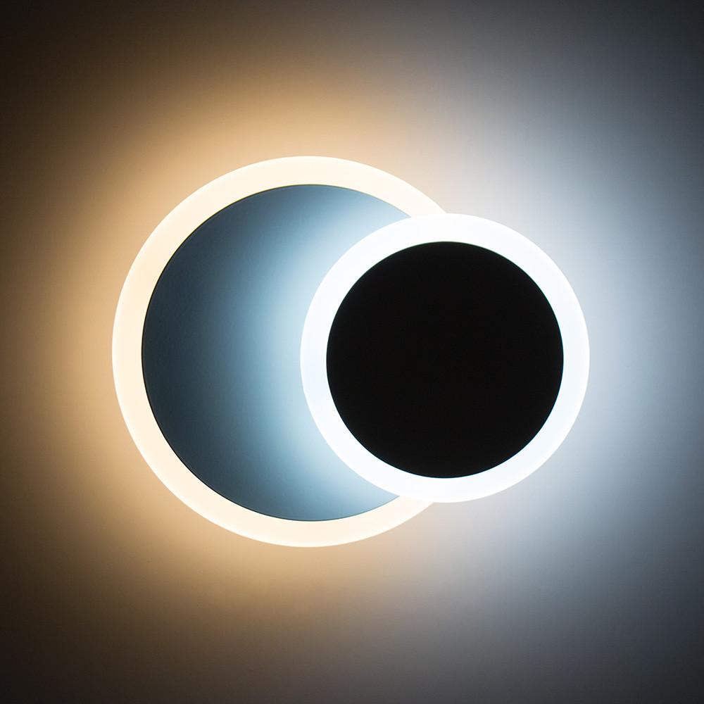 Настенный светодиодный светильник, бра LUMINARIA GEOMETRIA ROUND 12W R185 WHITE 220V IP44