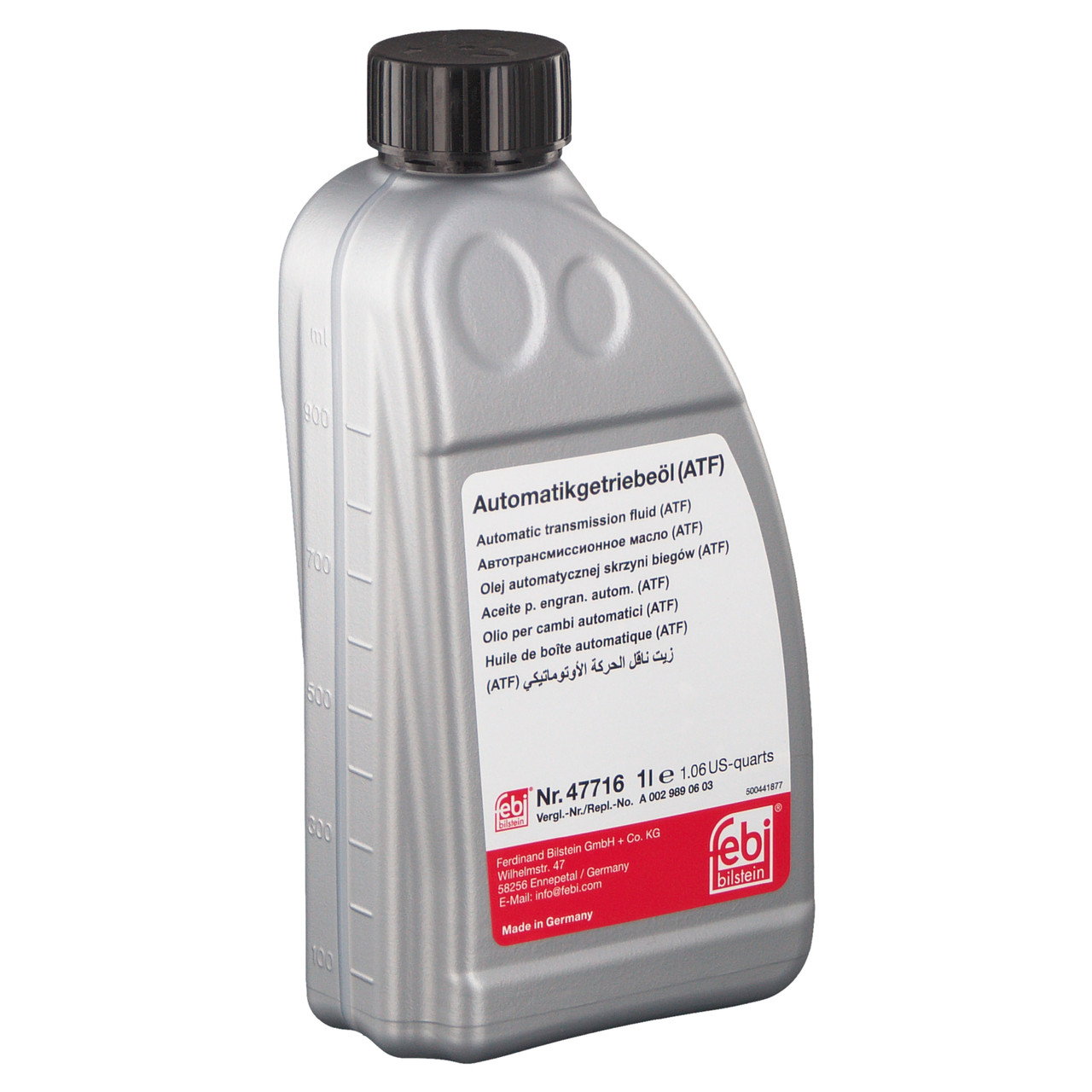 Трансмиссионное масло FEBI BILSTEIN (ATF) Nr.47716 (1л) MB 236.16/MB 236.17