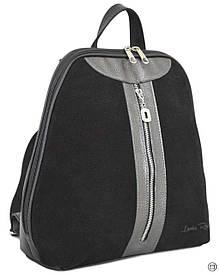 Женская сумка-рюкзак Case 570 черная серебро