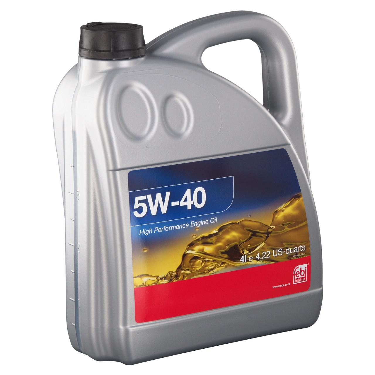 Моторное масло FEBI BILSTEIN SAE 5W-40 (4л) API SN/CF, ACEA A3/B4