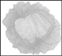 Шапочка медицинская на одной резинке Polix Pro&Med, белая (100 шт. в пачке)