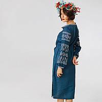 Плаття вишиванки Купава вышивка крестиком на льне