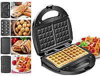 Мультигриль, бутербродница, сендвичница, вафельница, орешница  Crownberg CB-1074 со съемными формами, фото 1
