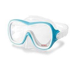 Маска для плавания Intex 55978, размер L, (8+), обхват головы ≈ 54 см, голубая