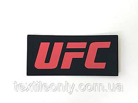 Нашивка UFC червоний 60х28 мм