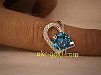 Серебреное кольцо с цирконием 925 пробы