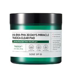 Кислотні педи для проблемної шкіри By Some Mi AHA BHA PHA 30 Days Miracle Truecica Clear Pad 70 шт