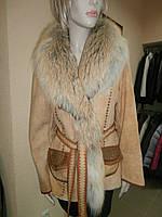 Дубленка женская Fontani с мехом лисы