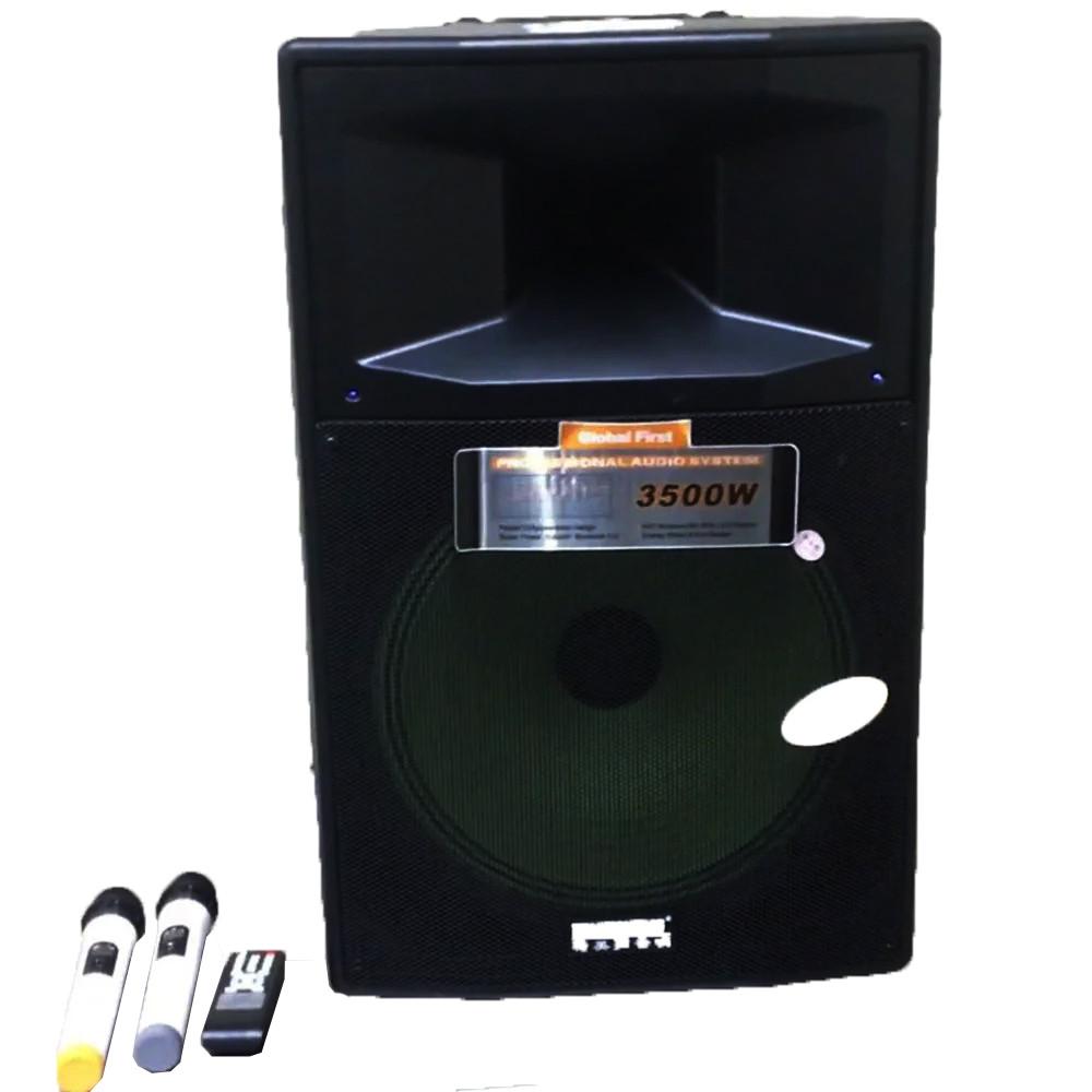 Акустична портативна колонка комбік Temeisheng SL-1204 | Два мікрофони, Bluetooth, USB