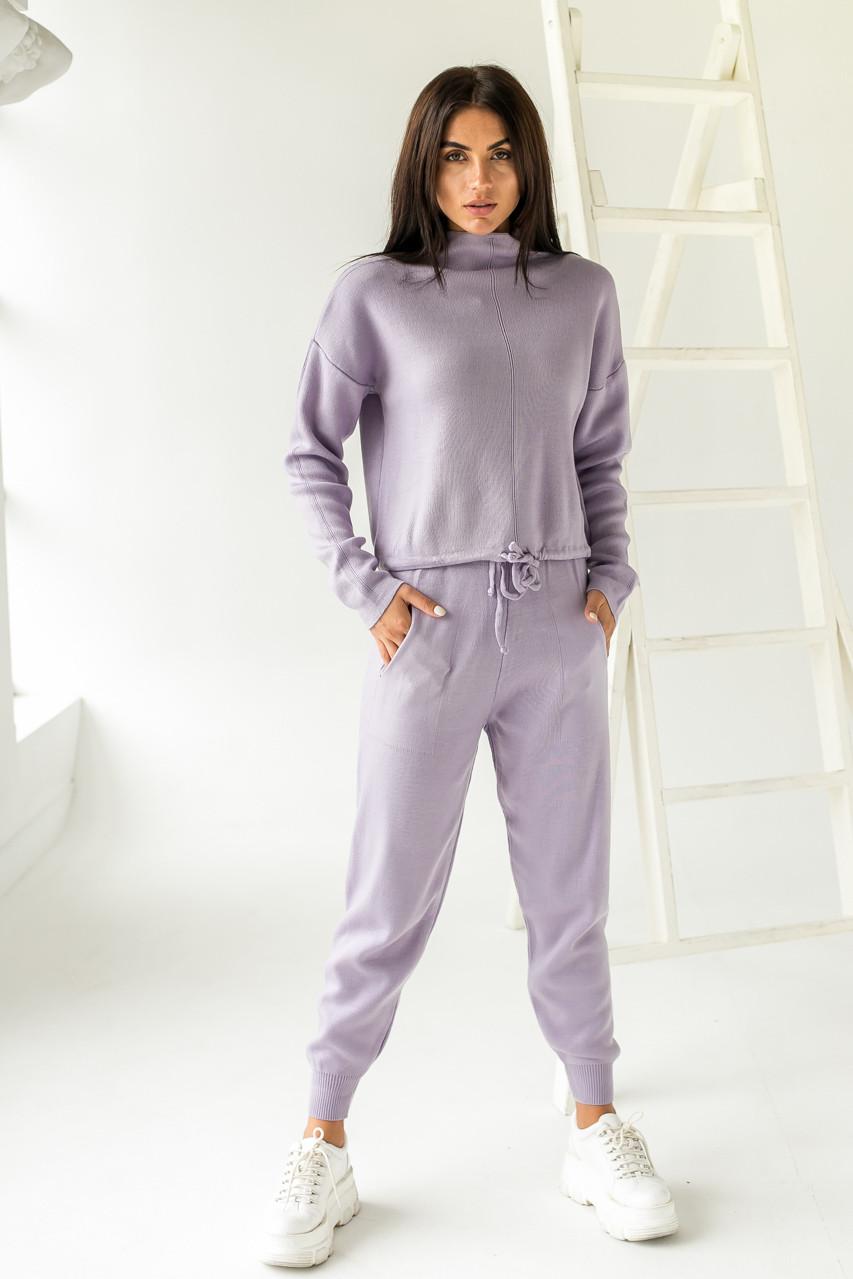 Жіночий трикотажний костюм двійка LUREX - лавандовий колір, S (є розміри)