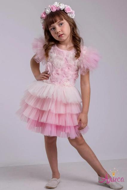 Карнавальный костюм  для девочки цветок  Роза