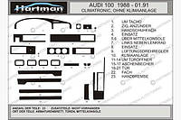 Накладки на панель Audi 100 C3 1988-1991 Темное дерево