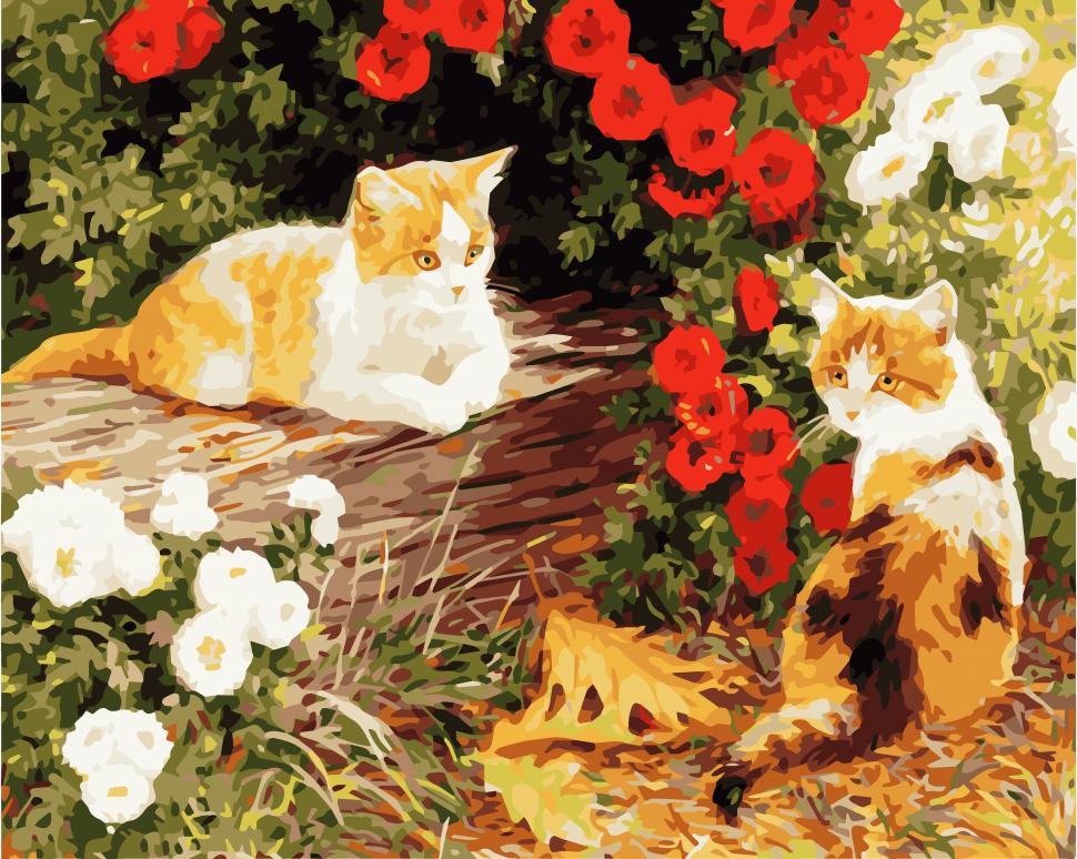 """Картина по номерам. Art Craft """"Пушистики в саду"""" 40*50 см 11604-AC"""