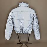 Куртка рефлективна світловідбиваюча підліткова для дівчинки з неоновою підкладкою демісезонна, фото 6