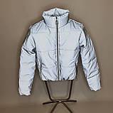 Куртка рефлективна світловідбиваюча підліткова для дівчинки з неоновою підкладкою демісезонна, фото 8
