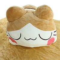 Подушка декоративная игрушка плед, подушка в авто, автомобильная подушка-плед Котик 190x115см