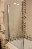 Шторка для ванны Devit Quest FEN0793P стекло шиншилла, 750х1400 мм, фото 2