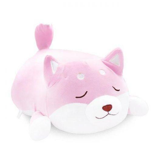 """Плюшевая игрушка """"Сиба-ину"""" спящий (50 см), розовая 111004"""