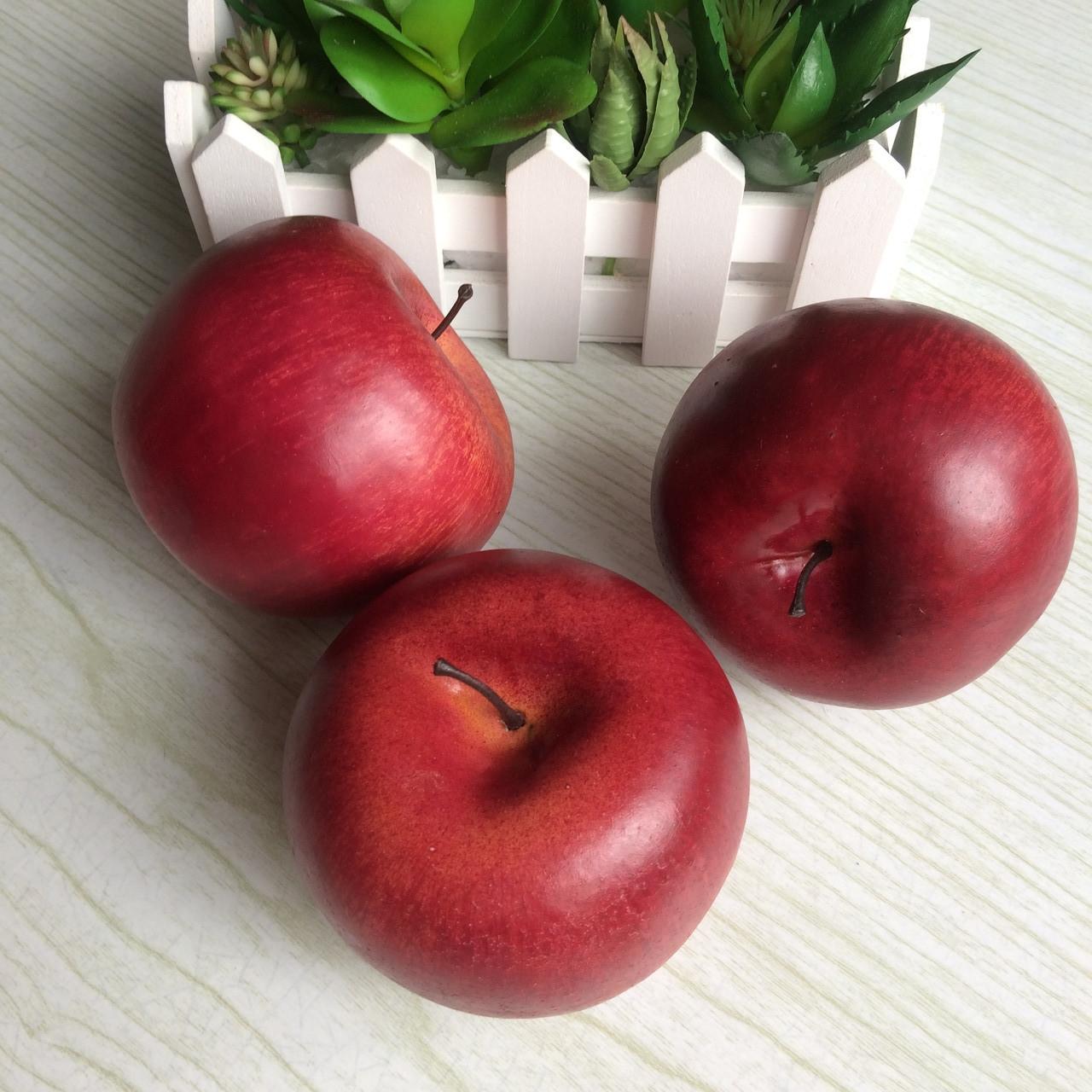 Штучне яблуко бордове кругле 7.5 див.