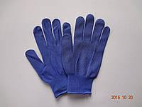 Перчатки синие нейлоновые с ПВХ точкой (упаковка 12 пар)