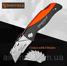 Sheffield S067220 Профи Складной универсальный нож . Многофункциональный карманный . Лезвия SK5 трапеция