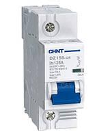 Модульные автоматические выключатели CHINT DZ158-125 1p 125А тип С 6кА, Автоматический выключатель ЧИНТ 125А