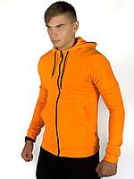 Кофта Мужская Cosmo оранжевая спортивная толстовка с капюшоном Подарок SKL59-261309