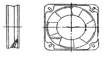 Осевой вентилятор Турбовент Бенето 150 квадрат, фото 2