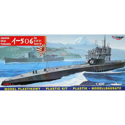 I-506 type U-IX D1 Turm IV. Сборная модель японской подлодки в масштабе 1/400. MIRAGE HOBBY 40046