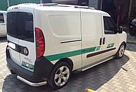 Боковые подножки (Line) Fiat Doblo Nuovo 2010+