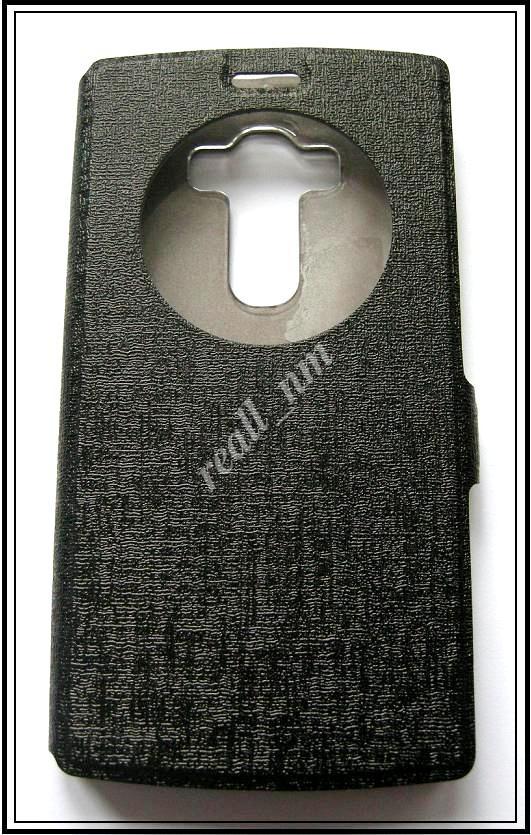 Черный Silk MC чехол-книжка Quick Circle для смартфона LG G4s H734