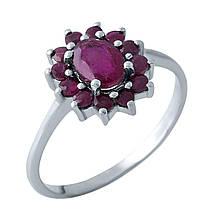 Серебряное кольцо DreamJewelry с натуральным рубином (1968109) 16.5 размер