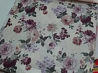 Ткань для штор с сереневыми цветами
