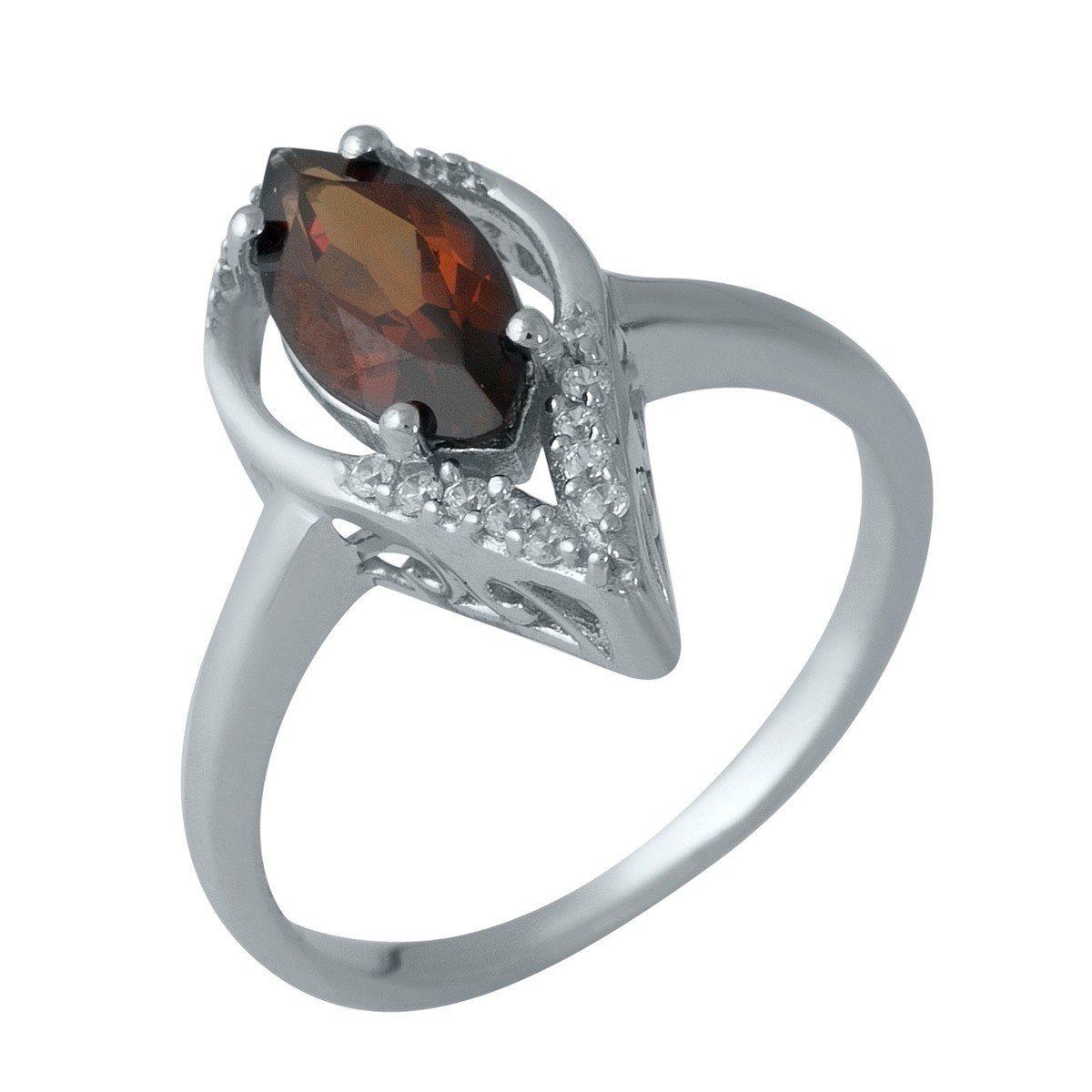 Серебряное кольцо DreamJewelry с натуральным гранатом (1987551) 18.5 размер