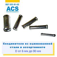 З'єднувач тосольний 8 мм з оцинкованої сталі.